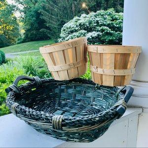 Basket and Bushel Set